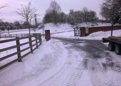Snow-fencing